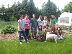 Robin Matathias with students