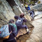 KSC Students climbing Mt. Monadnock